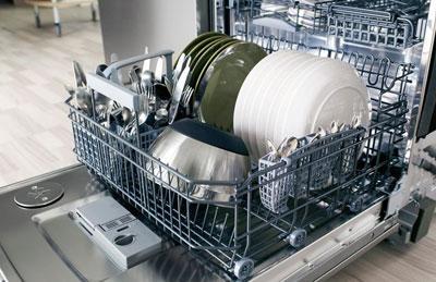 Посуда после применения ополаскивателя