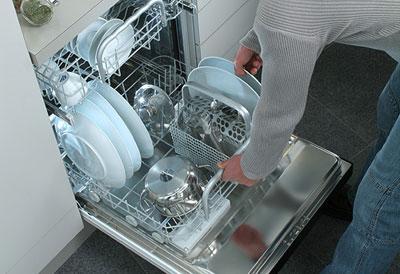 Укладка посуды в посудомоечную машину