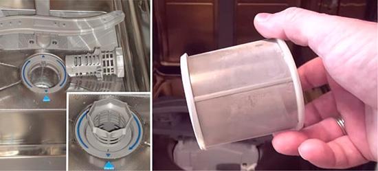 Замена фильтра посудомойки