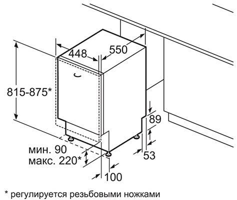 Размеры посудомойки Siemens SR64E003RU