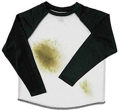 Как отстирать пятна травы с белой одежды
