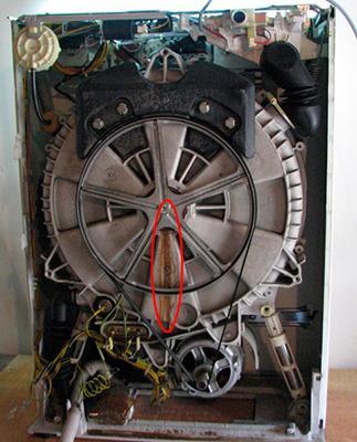 Ржавчина на баке стиральной машины