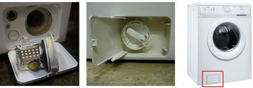 Достаем сливной фильтр из стиральной машины