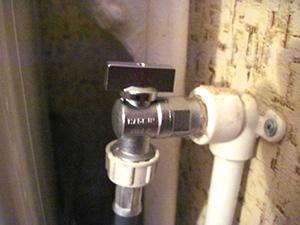 Кран подачи воды в стиральную машину