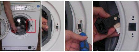 Снимаем замок дверцы стиральной машины