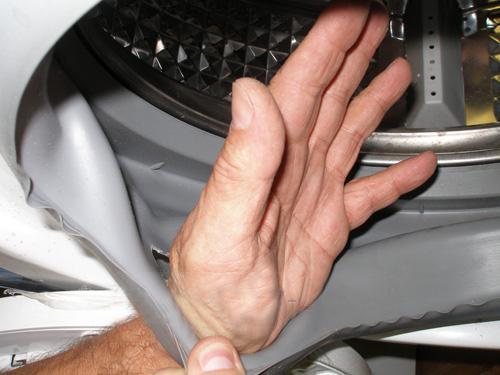 Рваная манжета стиральной машины