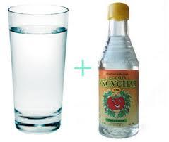 Вода и уксус