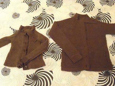 Обычная и севшая шерстяные кофты