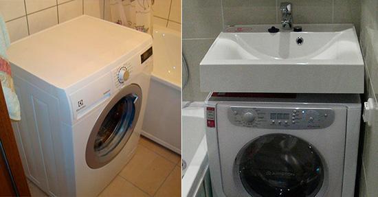 Варианты установки стиральной машины в ванной комнате