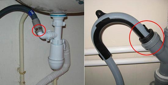 Варианты установки сливного шланга стиральной машины