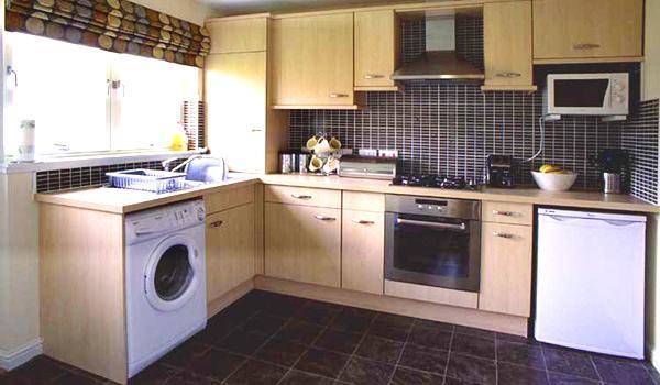 Встроенная стиральная машина в кухню