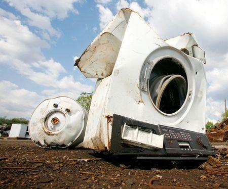 Сломанная стиральная машина