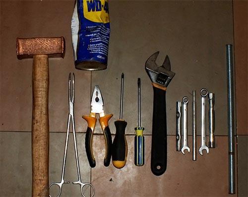 Инструменты для замены подшипника