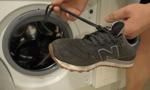 Стирка кроссовок из искусственной замши в стиральной машине