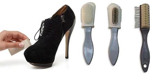 Губки и щетки для чистки замшевой обуви