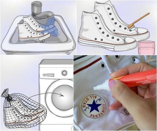 Правильная стирка кроссовок