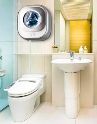 Ванная комната с настенной стиральной машиной