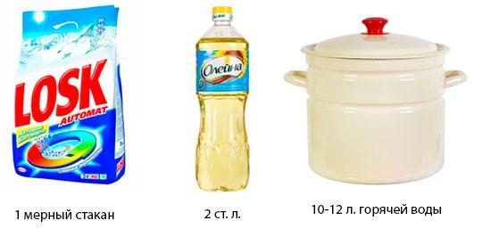 Как отстирать кухонные полотенца с растительным маслом