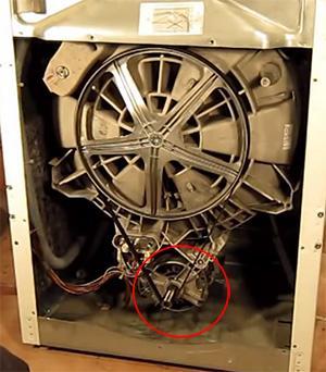 Расположение таходатчика в стиральной машине