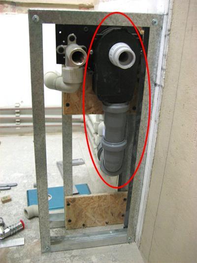 Установка встроенного сифона для стиральной машины