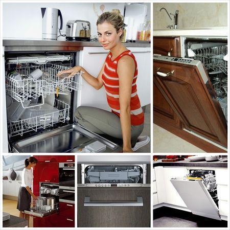 Варианты встраивания посудомойки на кухне