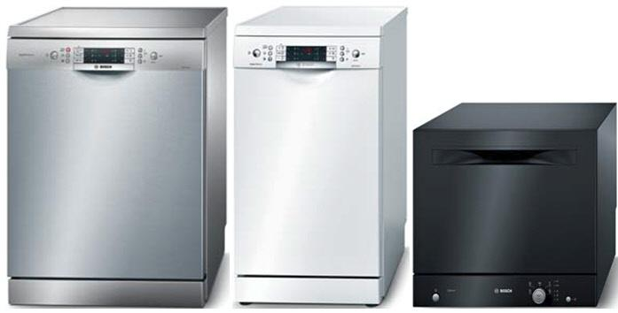 Типы отдельно стоящих посудомоечных машин