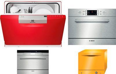 Виды маленьких посудомоечных машин