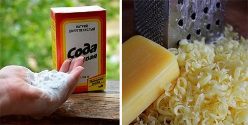 Порошок для посудомойки из мыла и соды