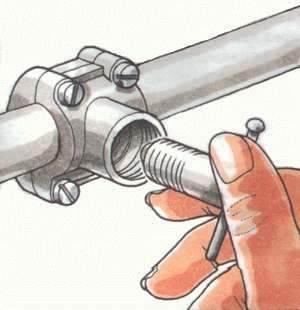 Просверливание отверстия в трубе