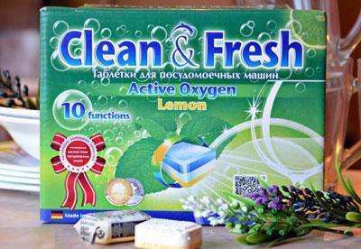 Таблетки Clean Fresh для посудомойки
