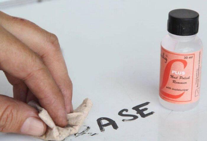 чем смыть перманентный маркер