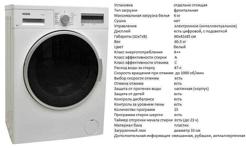 выбрать стиральную машину по параметрам