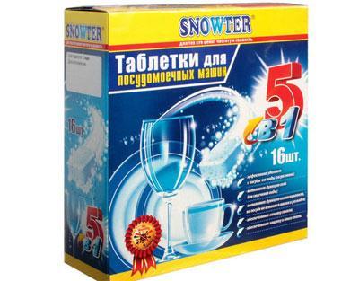 Таблетки Snowter для посудомойки