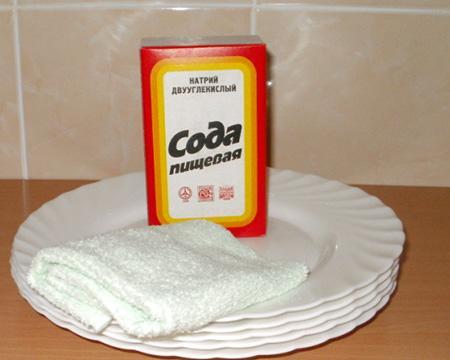 Почистить стиральную машину содой