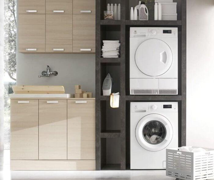 шкаф для стиральной и сушильной машины