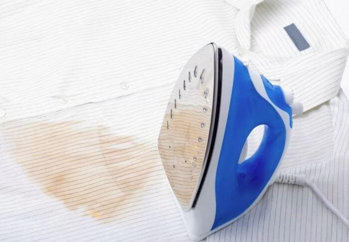 как убрать подпалины от утюга с одежды