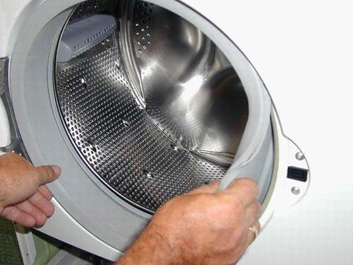 Снимаем манжету на стиральной машине