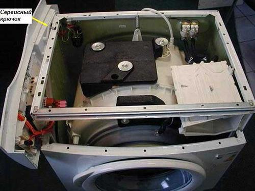 Снимаем панель управления на стиральной машине