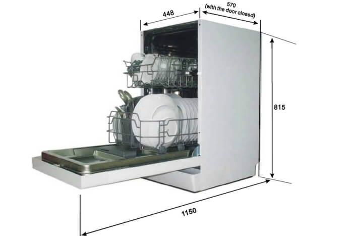 топ посудомоечных машин 45 см встраиваемая 2021