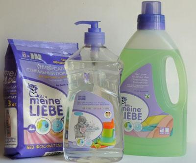 Средства Meine Liebe для мытья детской посуды и овощей